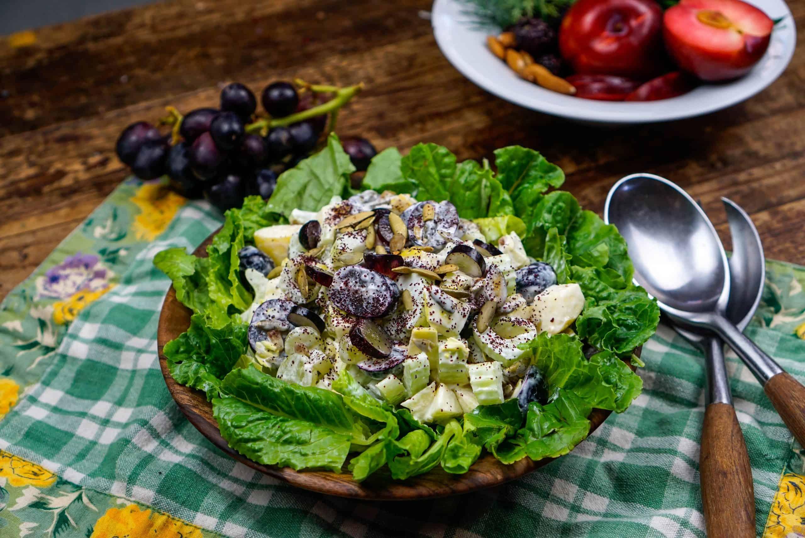 Vegan Waldorf Salad It S Gerd Friendly Too The Healing Gerd Rd